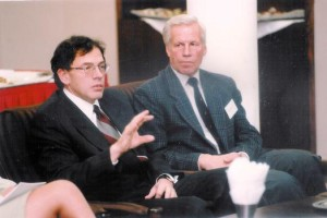 Z dyskutantem Dariuszem Rosatim